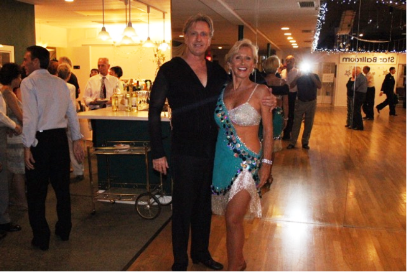 Jody & Brian - Instructors at Star Ballroom - After giving a Show