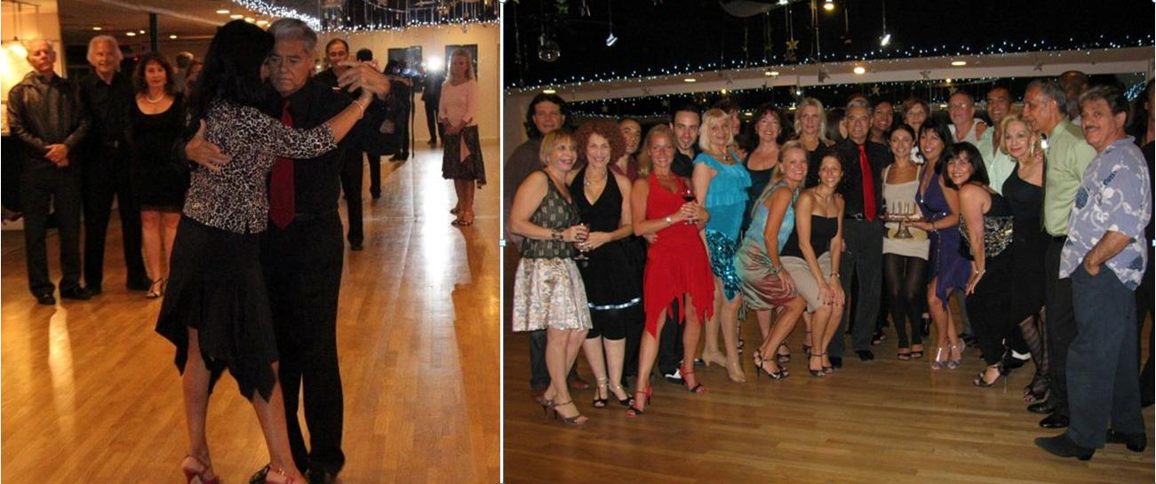 Scenes from Argentine Tango Milonga Party & Class