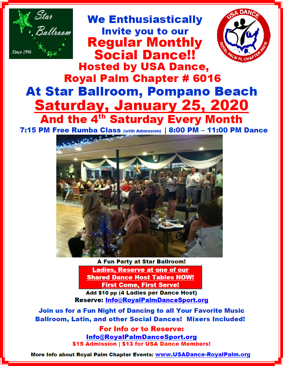 January 25, 2020 Dance at Star Ballroom