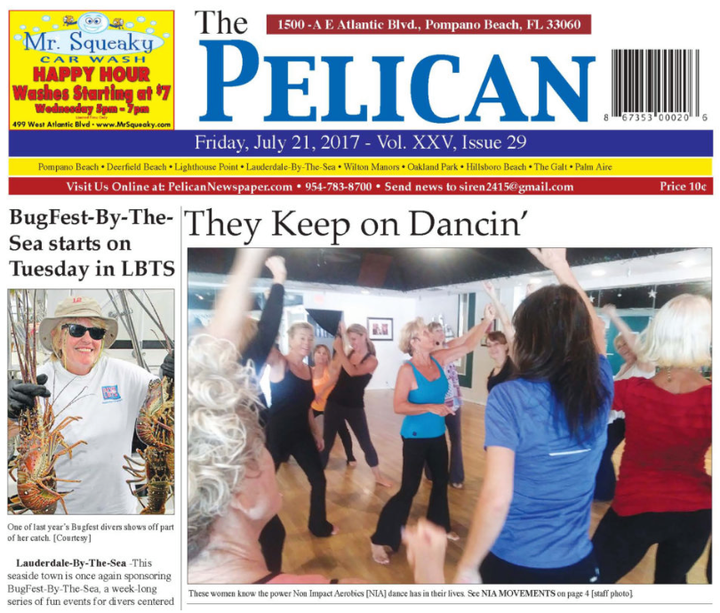 Star Ballroom NIA Classes with Jody Dancer - Featured in Pelican Newspaper - July 21, 2017!