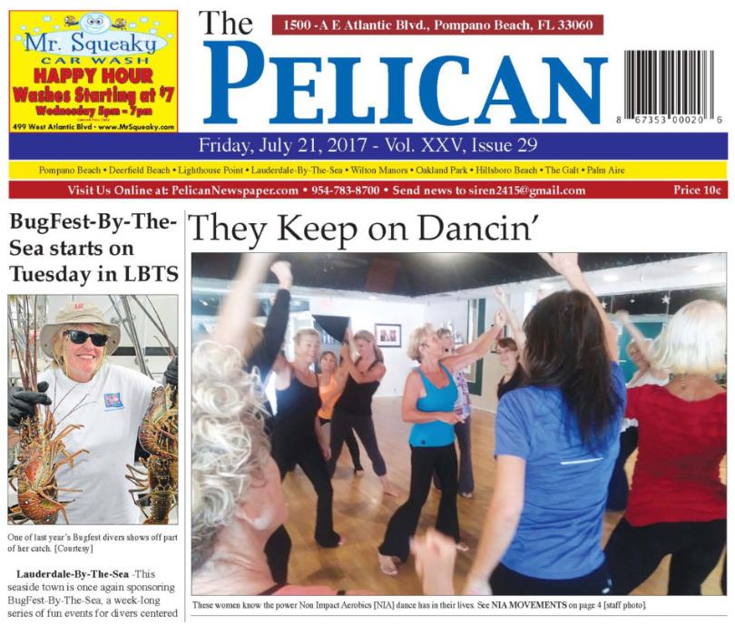 Josy Dancer's NIA Classes - Featured in Pelican Newspaper - July 21, 2017