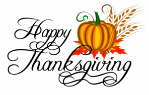 Happy Thanksgiving - Ballroom Closed Thursday, November 22
