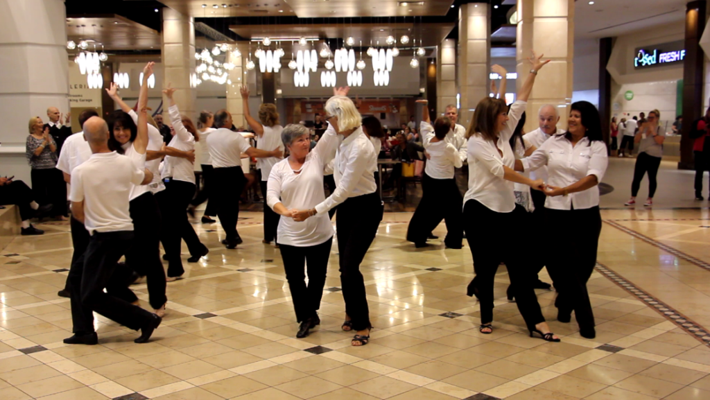 Our 2018 Flash Mob Formation Team performing  at Galleria Mall! - Won Honorable Mention in Nationwide Flashmob Contest!!