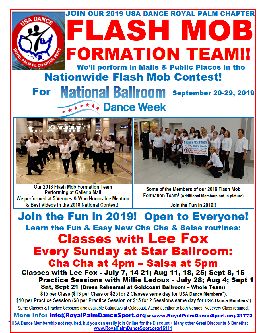 Flash Mob Formation Team Classes - Every Sunday at Star Ballroom!