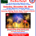 Special New Year's Pre-Eve Party!! – Saturday, December 28 – Class 7:15 pm – Dance 8:00 – 11:00 pm! – Party Buffet! – Hosts, Hats, Treats & More!