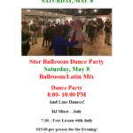 Public Dance at Star Ballroom!! – Saturday, May 8 – 8:00 pm – 10:00 pm – 7:30 pm Free Bolero Class! – $15 – Masks Required
