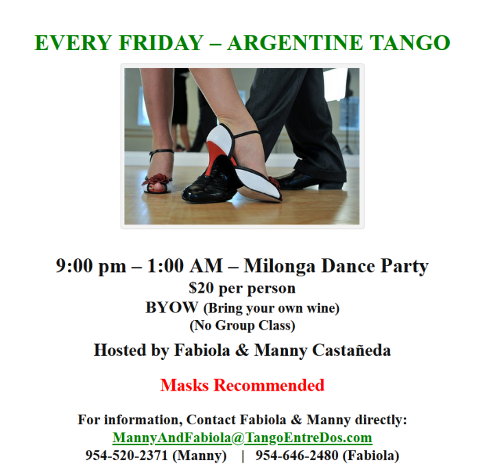Every Friday - Argentine Tango Dance Party